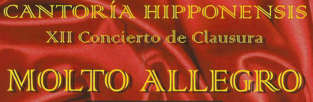 CRÍTICA DISCOGRAFICA MENSUAL XII:  CONCIERTO MOLTO ALLEGRO. CANTORIA HIPPONENSIS