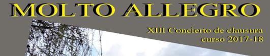 NUESTRA PRÓXIMA ACTUACIÓN: XIII CONCIERTO MOLTO ALLEGRO