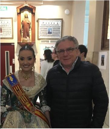 Visita de Consuelo Llobell a su colegio